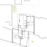 Urban Topos, Wohnbau, Appartments, Grundriss, Obergeschoss, 1.OG, Plan